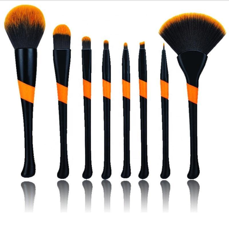 Pinceles de maquillaje de lujo del maquillaje del sistema de cepillo profesional al por mayor 8pcs cepillo de béisbol con el Kit de Herramientas de cosméticos de belleza en abanico
