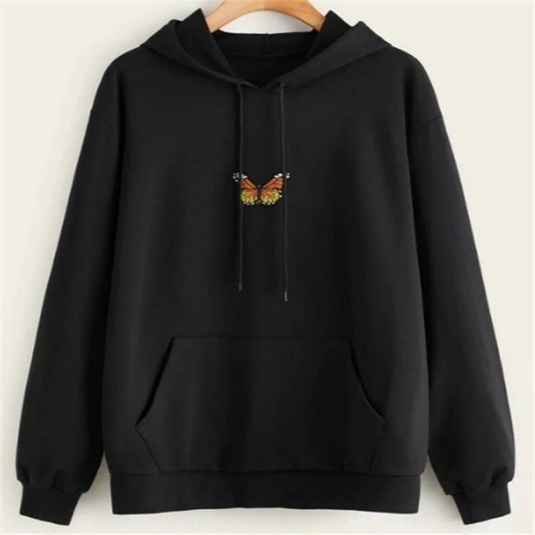 2020 осени свободного длинный рукав Новая вышитый капюшон 2020 Новых свободная длинный свитер бабочка рукав осень вышитые бабочек с капюшоном s ibFRe