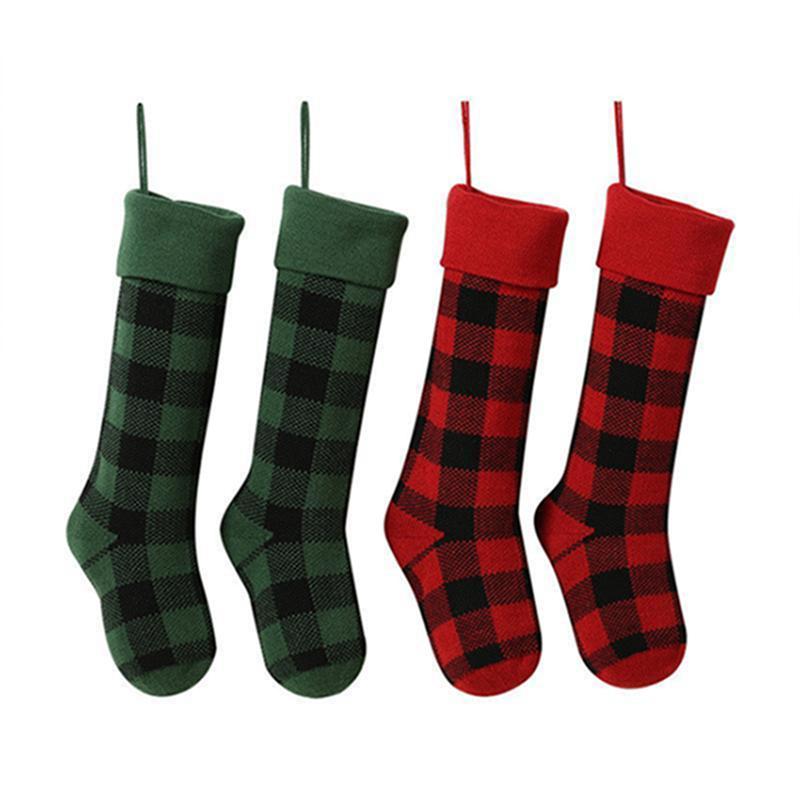 Punto de Navidad Stocks Stocks Tela Escombrilla interior Sockas de Navidad Candy Buffalo Bag Navidad Decoraciones IIA424 KVHUS