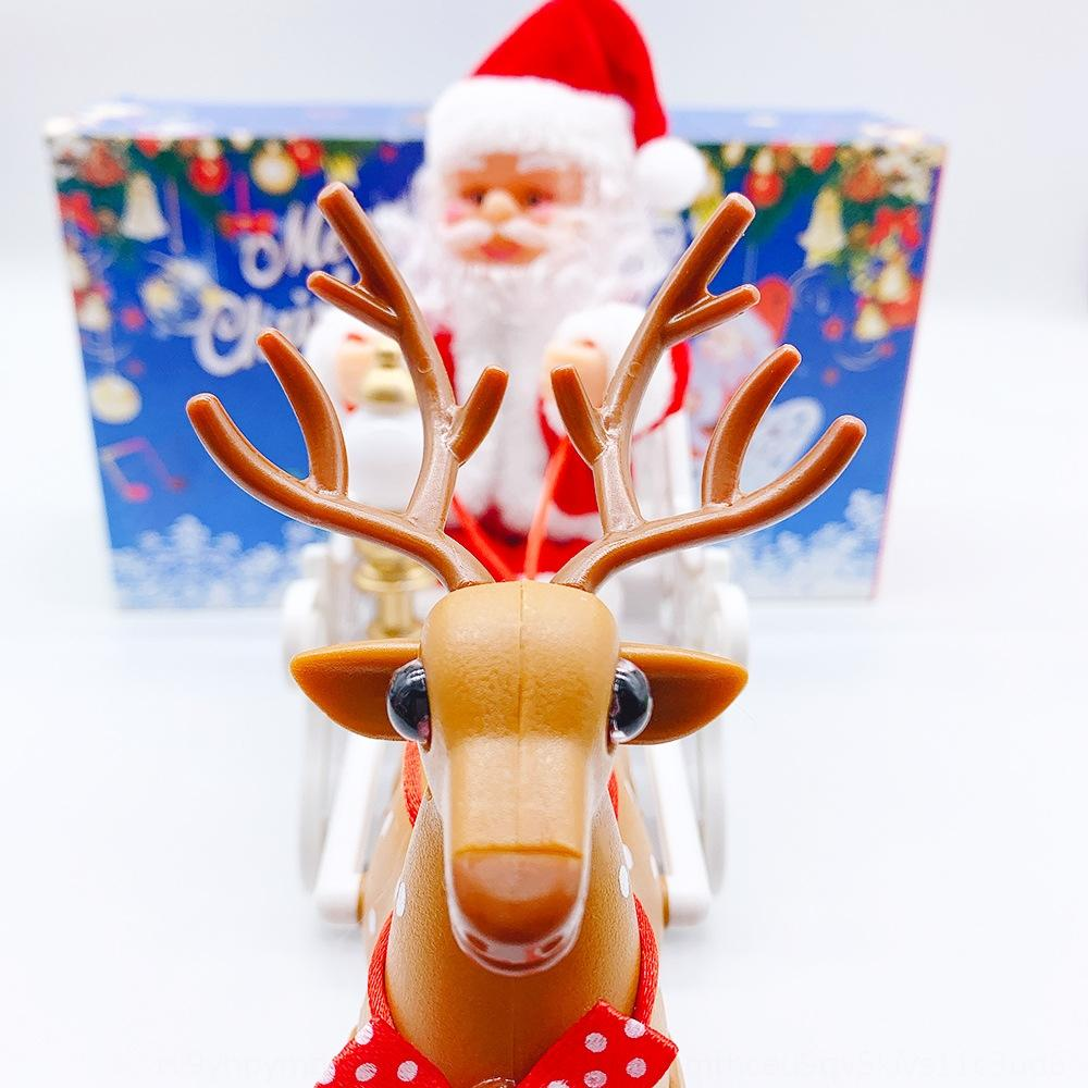 Santa Claus jouet cerf panier musique Décoration cadeaux créatifs Vêtements pour enfants Père Noël cadeaux créatifs décoration elk enfants oXh87 oXh87
