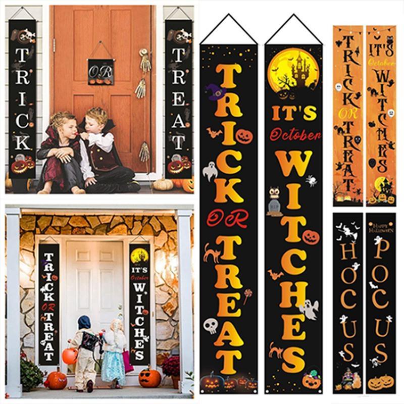 32 Estilos 32 * 180 centímetros Halloween Couplets Halloween Cortina bandeira decoração do Dia das Bruxas Fontes Oxford Cloth festiva fornecimentos IA515