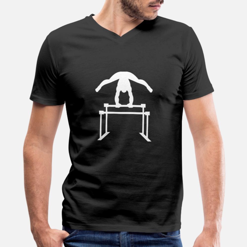Ginástica Ginasta Acrobacia de Fitness Sports camiseta de algodão homens Character gola redonda camisa Vintage solto cómico Primavera Tendência