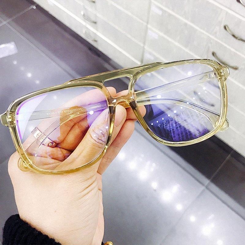 Feishini vidros transparentes Rays radiação Gamin Eyewear Plastic Titanium Unisex Anti Light Blue Óculos Mulheres Optical 9gq0 #