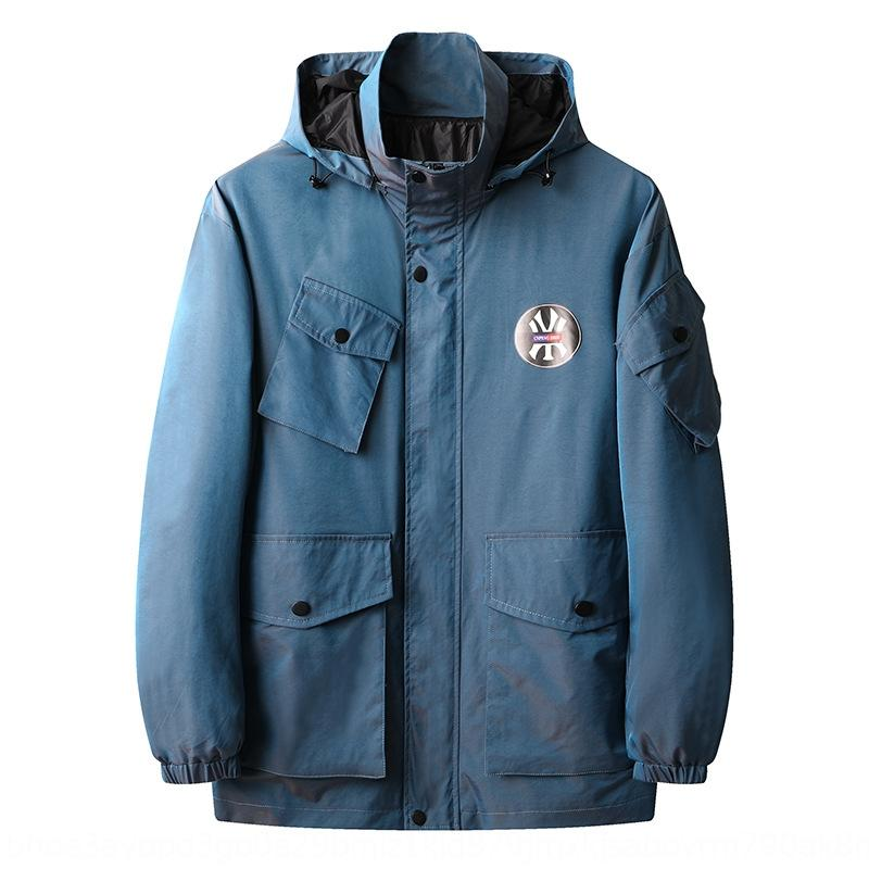 chapéu jaqueta destacável solta casaco extra-grande de gordura dos homens Primavera e Outono novos desportos ao ar livre do hoodie esportes ao ar livre grande roupas masculinas tamanho