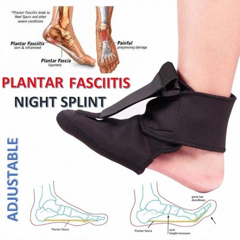 2019 venta caliente ajustable fascitis plantar Noche férula Deporte dolor en el dedo del pie ayuda del apoyo FG66 LE6R #