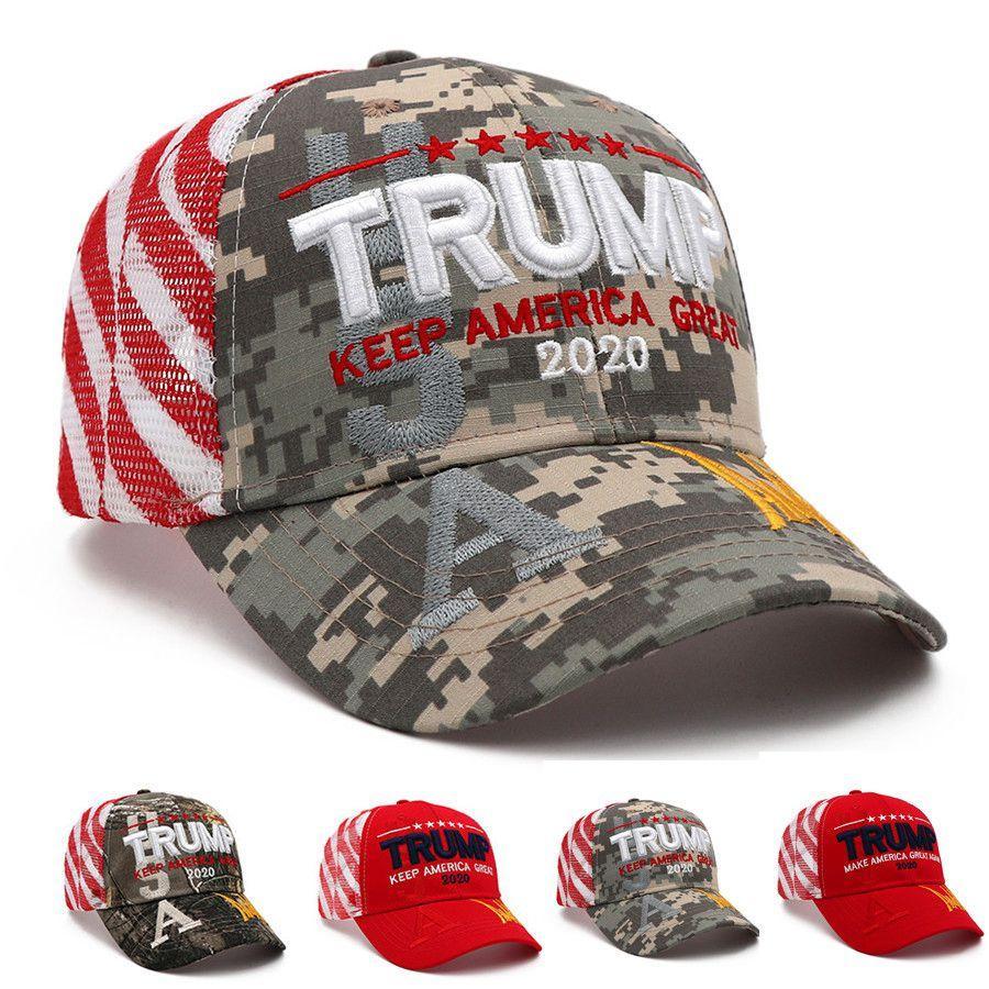 دونالد ترامب قبعة بيسبول ترامب 2020 مطرز KEEP AMERICA عظيم التمويه قبعات كامو سائق الشاحنة قبعات OOA8053