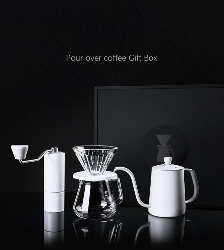 Чистый белый Timemore C нержавеющая сталь заусенцев кофе набор мясорубки полить кофе высокого качества ручки конструкции ручной мельницы