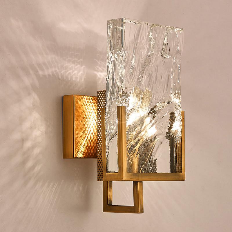 Postmoderna minimalista Nordic blocco grande cristallo muro vivente luce della stanza TV a muro di fondo navata laterale della lampada da parete creativa