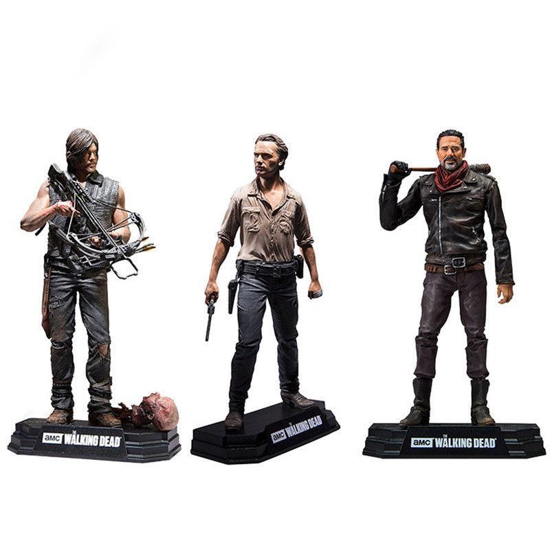 """o negan mortos andando Rick Grimes Daryl Dixon PVC Action Figure Collectible Modelo Toy 7"""" 18 centímetros"""