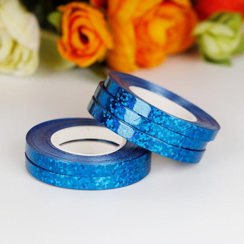stok 10m Folyo Balon Lazer Kurdele Pembe Altın Balon Strings EventParty içinde Curling doğum günü partisi Düğün Dekorasyon DHL Malzemeleri