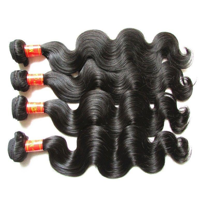 Dhgate منتجات الشعر الماليزية العذراء شعر الجسم موجة 4 حزم 400 جرام الكثير غير المجهزة ريمي الشعر البشري حزم النسيج اللون الطبيعي