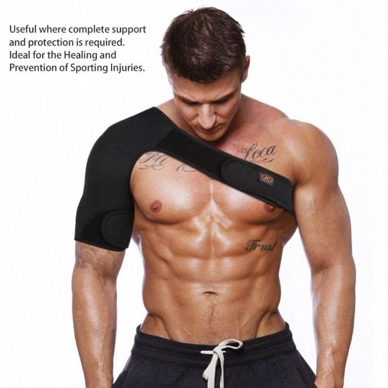 Nuevos Deportes solo hombro magnética ayuda del apoyo de la correa de la correa del abrigo de la banda Hombrera d7cq Cuidado vendaje Negro #