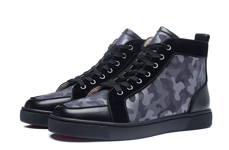 louboutin camouflage sneakers