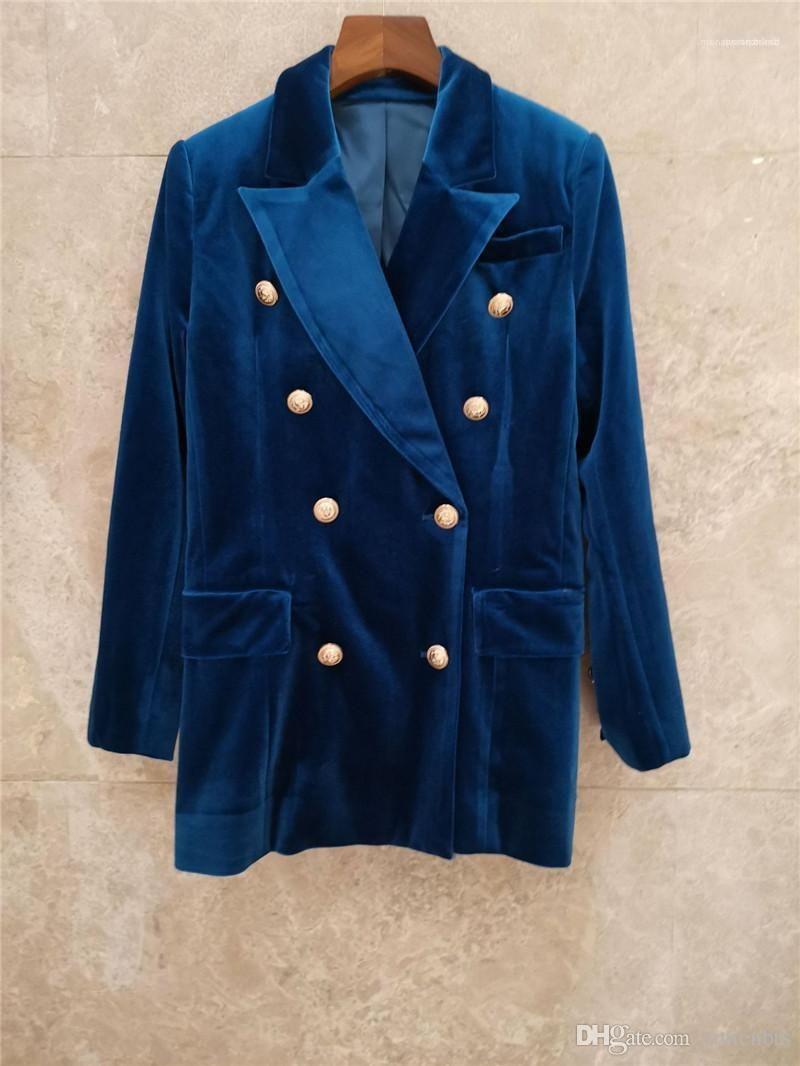 2PCS Sets Fashion Female Clothing Designer Women Two Piece Dress Blue Suede Blazer Short Skirts Sexy Ladies