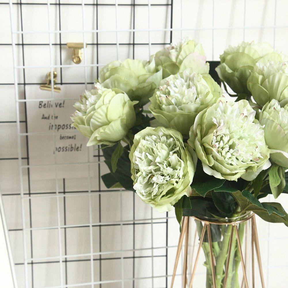 Avrupa Yapay İpek Hollandalı Şakayık Çiçeği Ana Otel Masa Dekorasyon Sahte Çiçek Düğün Sahne Dekorasyon Valentine'sDay Hediye Q4hl #