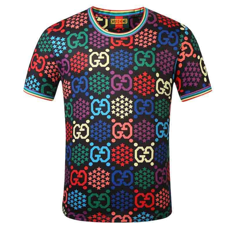 FF Mode Hommes T-shirt d'été T-shirt de haute qualité pour hommes Styliste T-shirt Hip Hop Hommes Femmes Noir T-shirts manches courtes