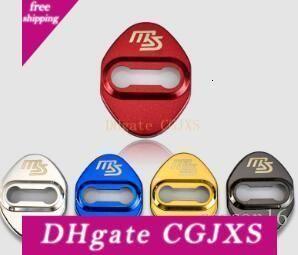 Coperchio di protezione serratura di portello della copertura posteriore per Mazda Ms Emblem Badges acciaio inox serratura della porta di designazione 4pcs / Lot
