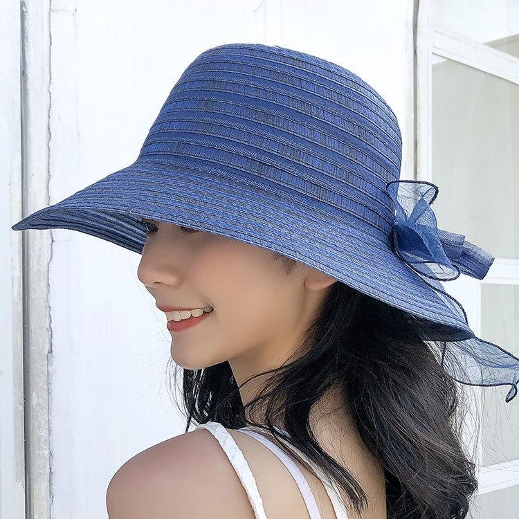 Sun Cap Mädchen UV Protect faltbare Fischer-Hut Double Side Wear Bucket Hat Frauen-Sommer-Strand