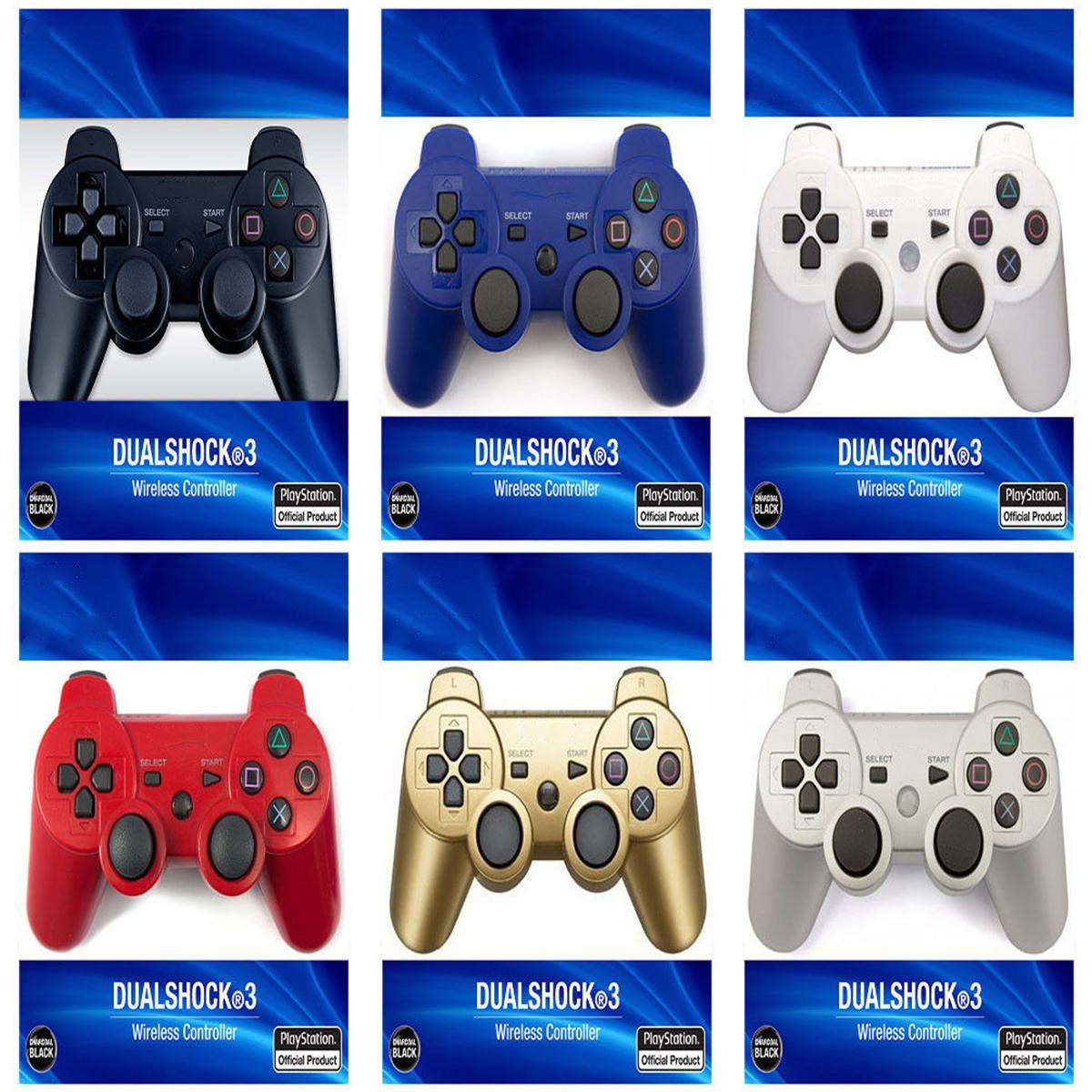 تحكم PS3 تحكم لاسلكي بلوتوث لعبة مزدوجة صدمة للبلاي ستيشن 3 PS3 المقود غمبد مع صندوق البيع بالتجزئة دي إتش إل الحرة