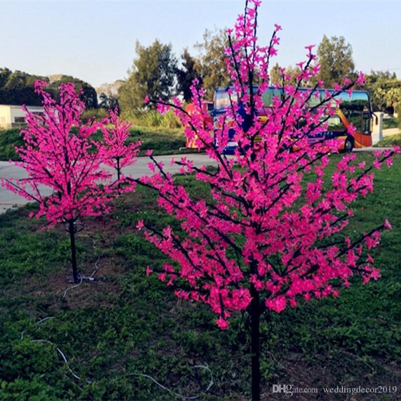 1,5M brillante fleur de cerisier éclairage LED arbre de Noël étanche paysage jardin lumières décoratives pour la fête de mariage de Noël