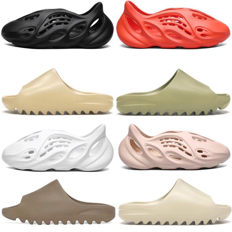 pistoni casuali della moda occidentale Kanye estivi Uomini Donne Schiuma sandalo scarpe da spiaggia nere Foamdesert terra marrone scarpe scorrere resina stilista diapositive