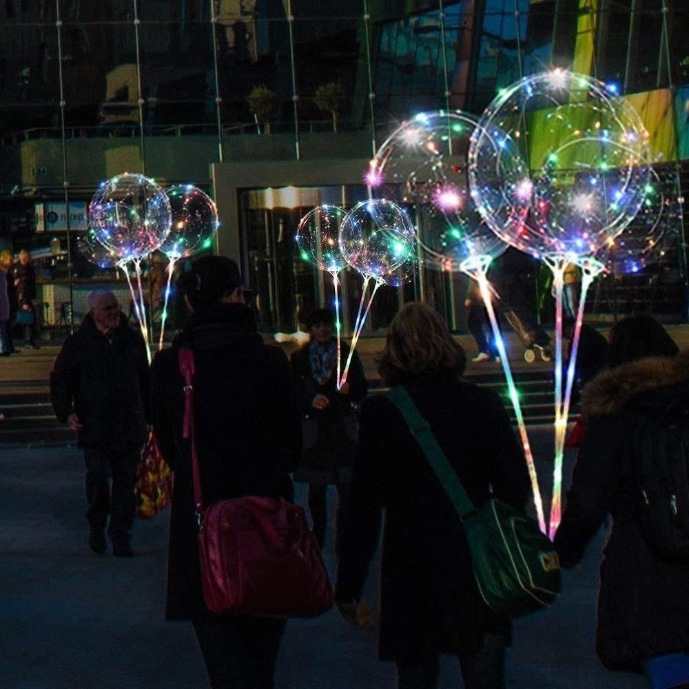 Luminoso Led globo Claro burbuja Globo fiesta de cumpleaños de la luz LED claro BOBO Decoración de Navidad Suministros Globos 0OmU #