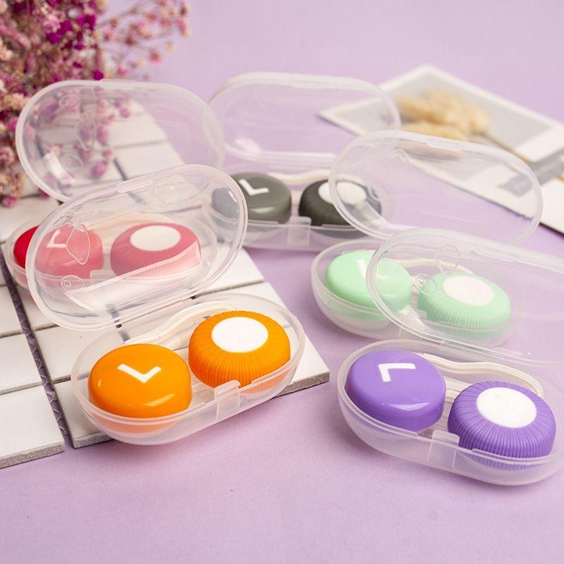 caso XAYgf Caesar Metro novo K185 doces coloridos-lian ele óculos de lentes de contato Shuang óculos de Enfermagem de casos de cosméticos caixa de caixa de cuidados banhe o g3yAx