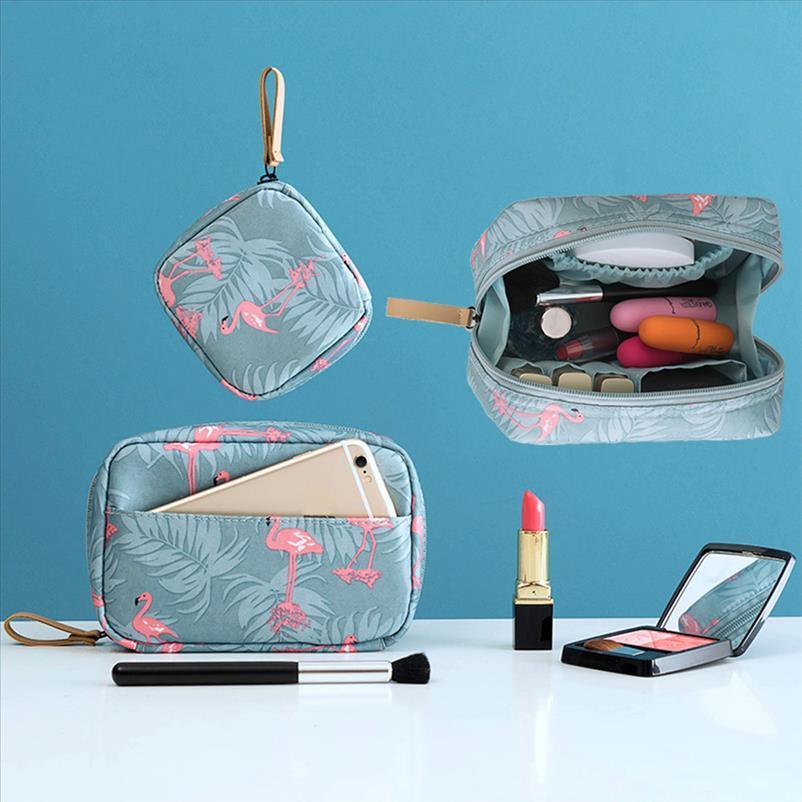 Водонепроницаемая сумка Организатор мини портативный макияж сумка фламинго сплошной цвет туалетной дорожной мытью для хранения красоты косметический FBGOO