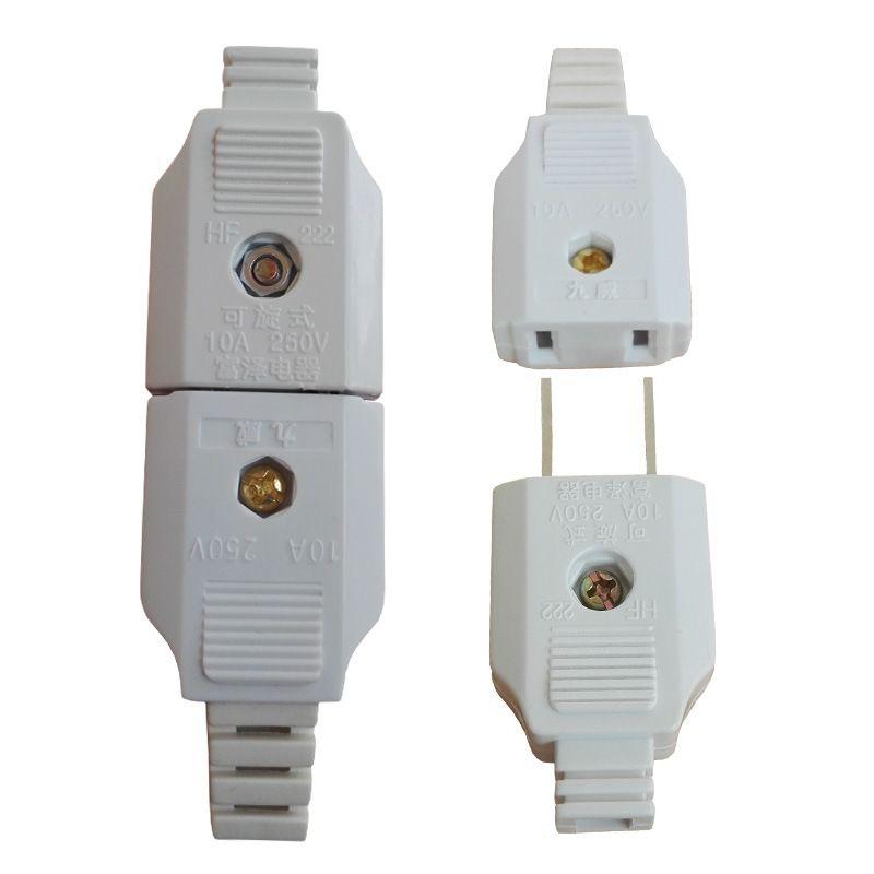 미국 미국 2 플랫 핀 AC 전력 수 플러그 암 소켓 콘센트 어댑터 와이어 연장 코드 플러그 어댑터