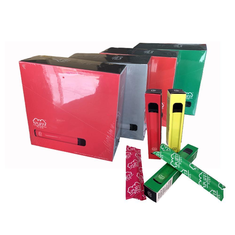 최고의 퍼프 바 플러스 일회용 Vape 장치 550mAh 배터리 3.2ml 카트리지 퍼프 플러스 흐름 글로우 XXL 키트를 판매 서로 다른 색상