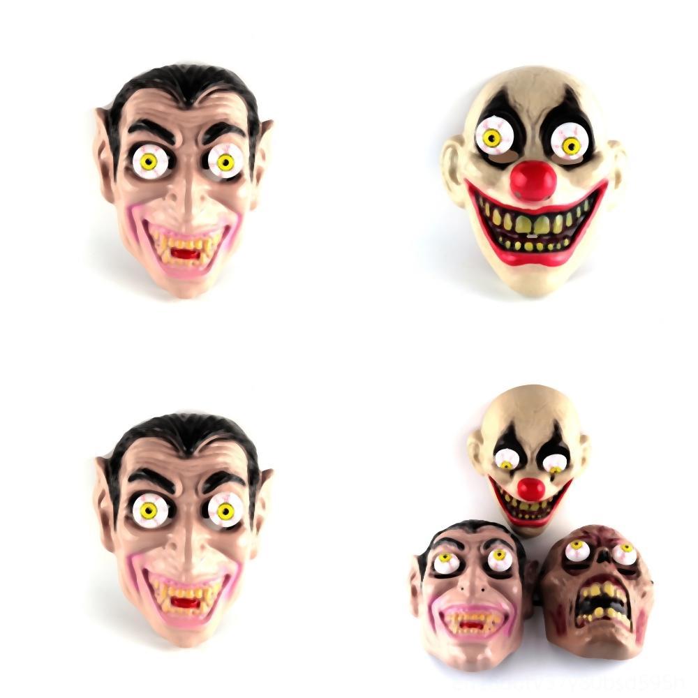 CPqCc loup effrayant sur masque drôle vente Party moue brun Hallowmas masque tête diable terroriste masque animal effrayant costume d'Halloween noir blanc