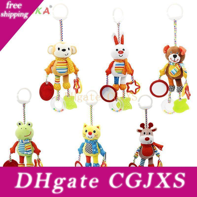Kids Toys Hanging Spiral Rattle Stroller Cute Animals Crib Mobile Bed Baby Toys 0 -12 Months Newborn Educational Toy For Children