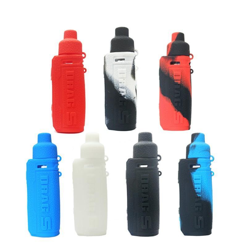 Renkli Mat Koruyucu Voopoo DRAG S 60W Pod Mod Vape Kiti Elektronik Sigara için Kol Cilt Silikon Kılıf Kapaklar