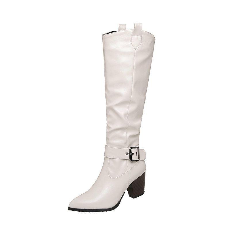 Ботинки мода свадьба рабочая колена высокая сексуальная зима для женщин 2021 est указывала ножные каблуки обувь женщина
