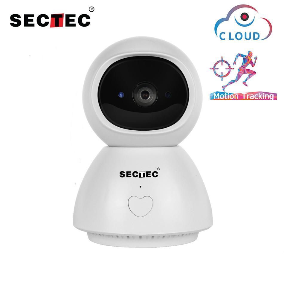 Sectec Nuvem IP sem fio da câmera 1080P APP reverso-Call Auto-Tracking Indoor Home Security Vigilância CCTV rede WiFi Cam