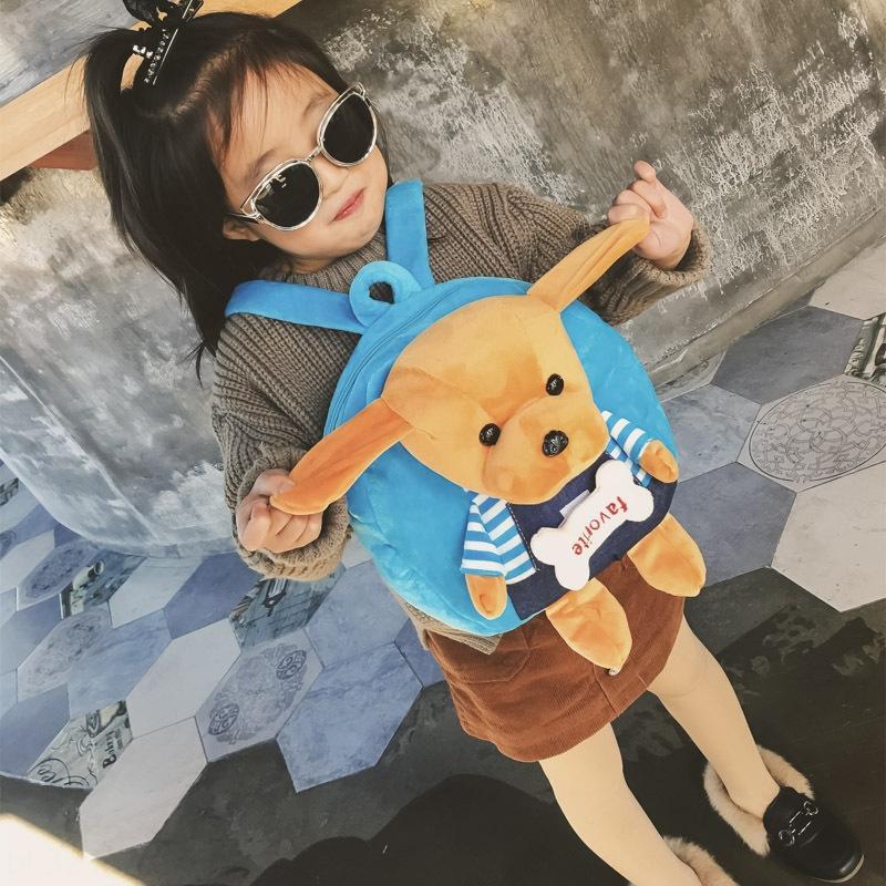 Kore tarzı çocuk çocuk çantası 2020 ilkbahar ve yaz yeni sırt çantası sevimli köpek yavrusu küçük sırt çantası modaya uygun erkek ve kız çantası