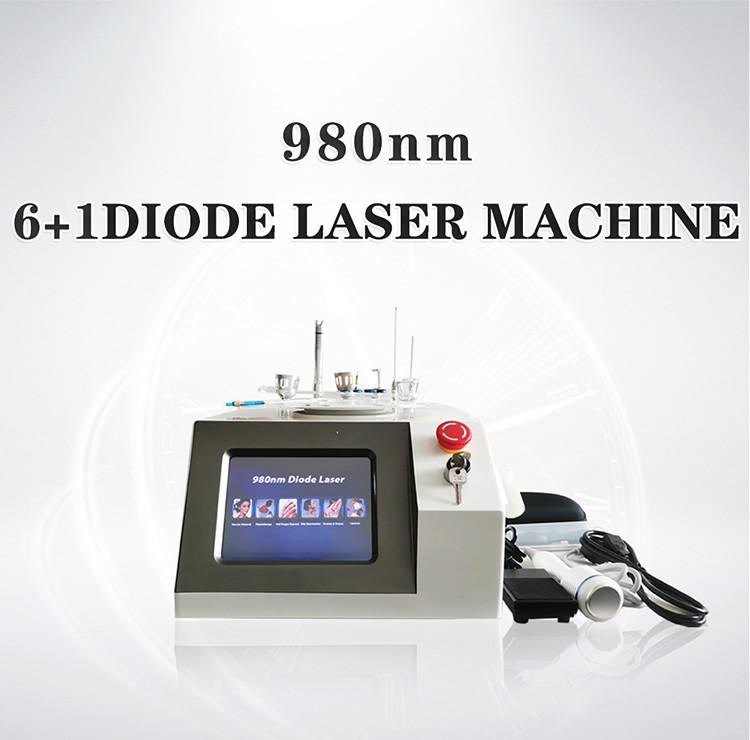 6 In 1 980Nm Diode Laser Blood Vessels Removal Nail Fungus Removal Body Physical Therapy Machine For Sale CE Approved