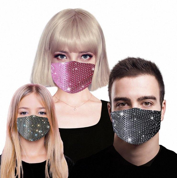 Designer-Maske Diamant-Dekoration wiederverwendbare Breath Bling-Gesichtsmaske für Partei-Sommer-Sonnenschutz Schutz Thin Section Maske DHB855 QVM5 #