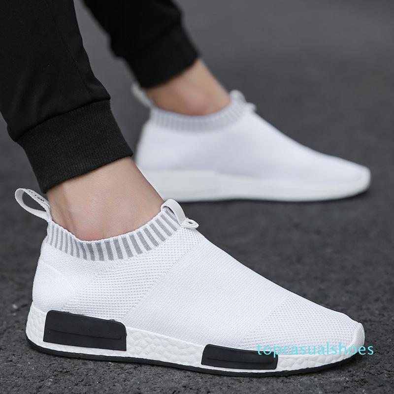 Mens Fashion Walking Sock Shoes Lightweight Air Mesh Slip-on Breathable Sneakers Casual Mesh-Comfortable Work Shoes, EVA Loafers top