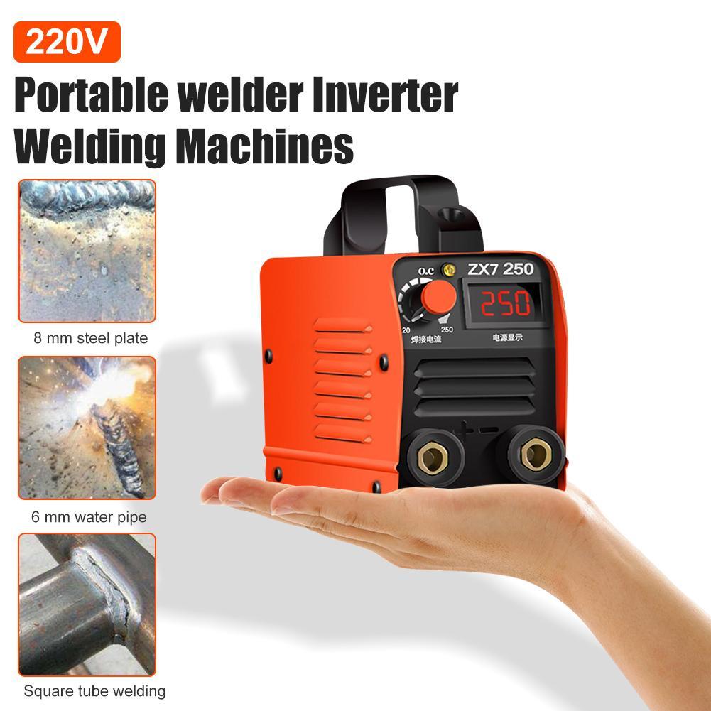 220V 250A de alta calidad de la máquina de soldadura portátil inversor de soldadura ZX7-250 máquina