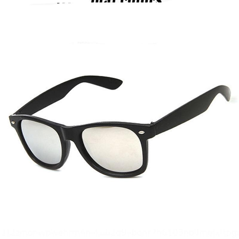 Klasik geniş çerçeve erkek ve güneş gözlüğü kadın renkli film yansıtıcı güneş 2140 Yıldız Moda Güneş gözlükleri gözlük