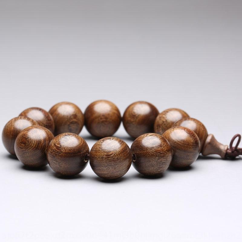 Gold sandalwood bracelet men's plain pattern material gold sandalwood 15mm bracelet Buddha bead mixed Buddha beads submerged ml2cY