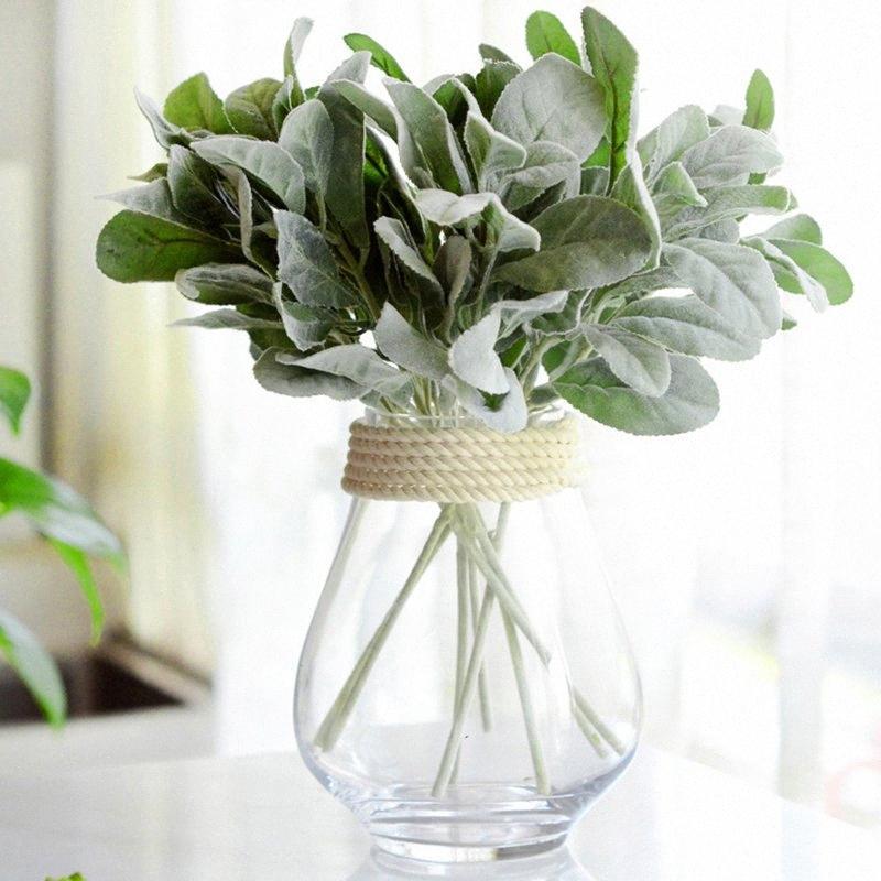 Artificial planta Reunindo Antlers Folha Verde plantas artificiais suculentas casa Decoração de Natal YKku #
