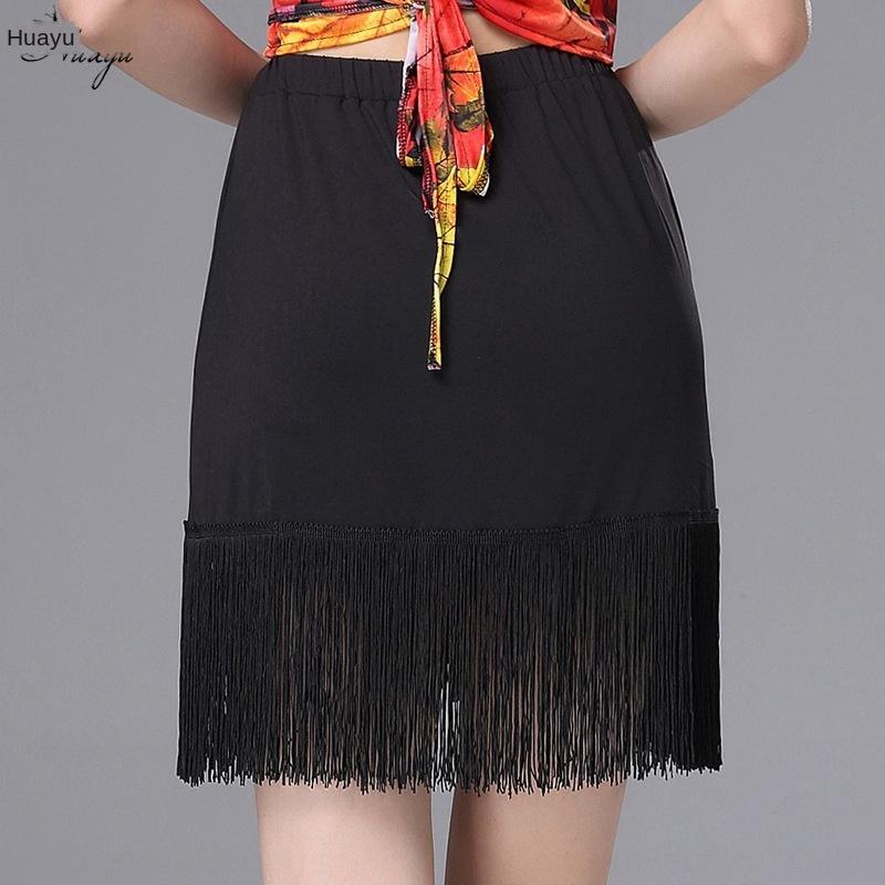 Huayu Kleidung Quaste Rock New Latin Tanzpraxis Kleidung Gesellschaftstanz Quasten Rockfrauen Erwachsene Frühling und Sommer knhKd