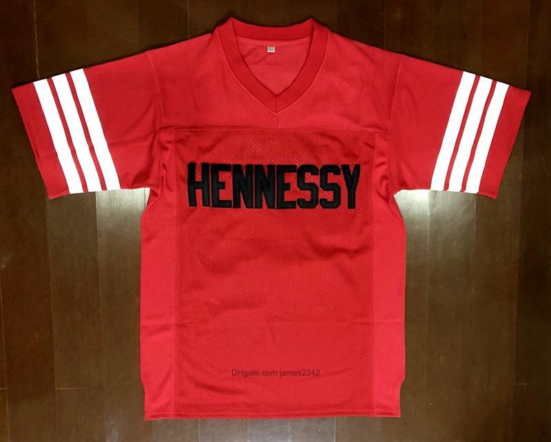 Envío de nosotros #Prodigy # 95 Hennessy Queens envío Puente de la película de fútbol jersey rojo cosido tamaño S-3XL de alta calidad