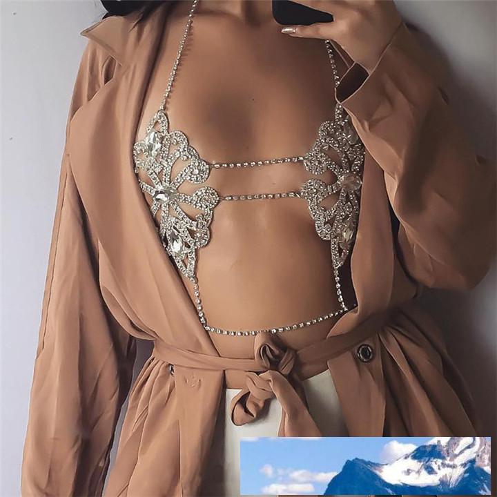Catena della collana del corpo sexy del fiore del Fashion Statement Hot Bra collane Boho di estate di lusso A600 Brassiere donne del migliore regalo