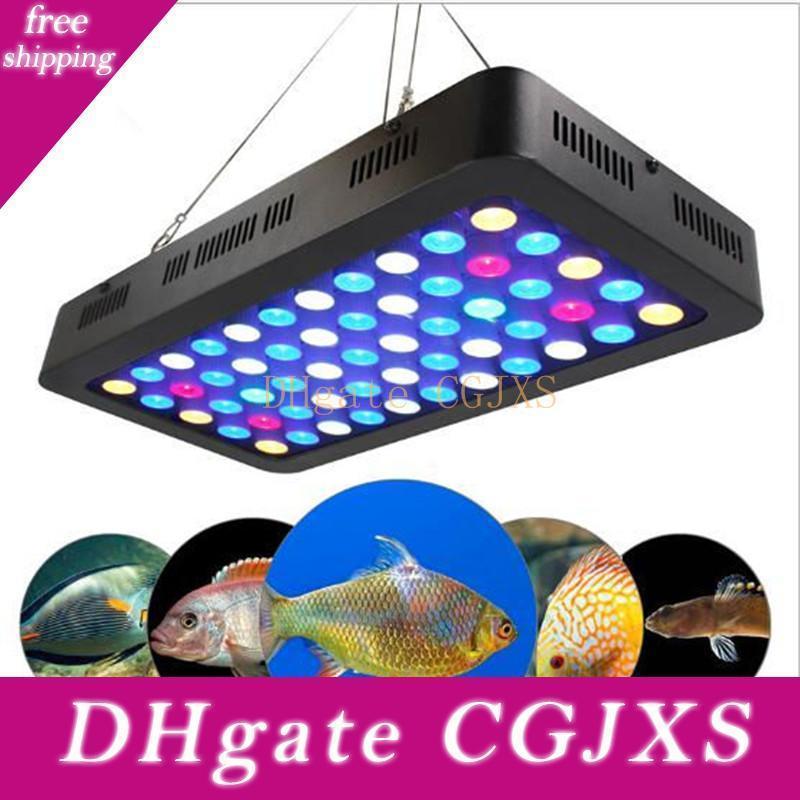 165W LED-Aquarium beleuchtet 55 * 3w Handbuch Dimmbare Voll Spctrum wachsen Licht-Fisch-Behälter Korallenriff Lichter