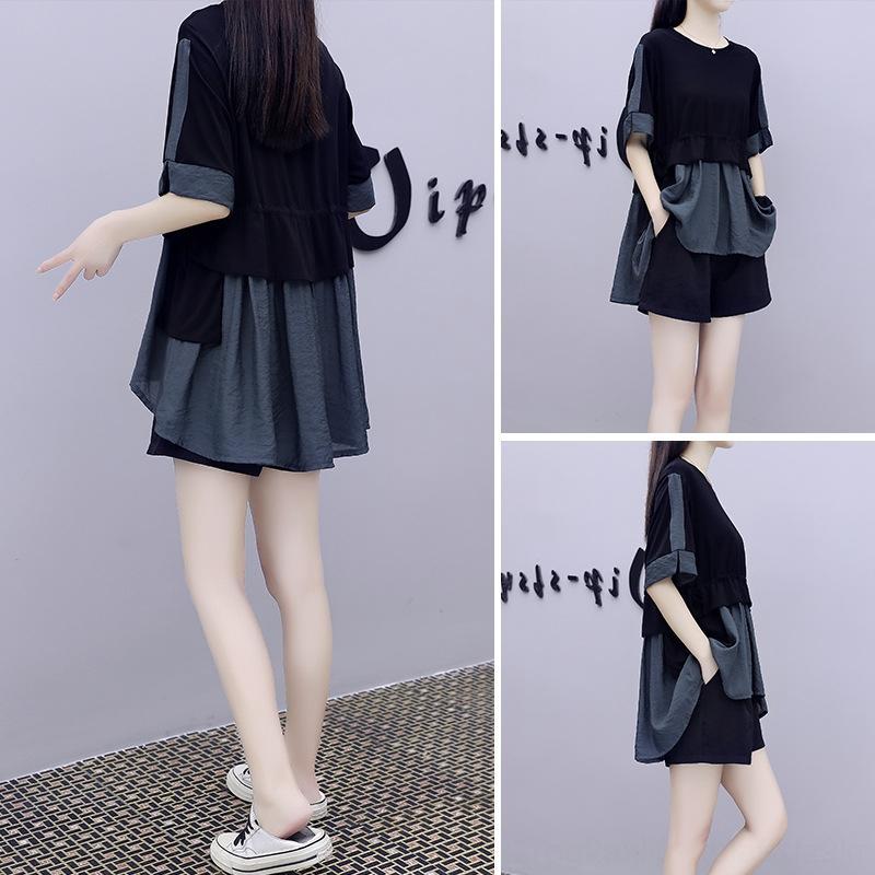 Gdyx2 Mode-Puppe zweiteilige für Hemd 2020 neue kurze Hosen im westlichen Stil lose Taille schlank Puppe Frauen eleganter Anzug Anzug Sommer