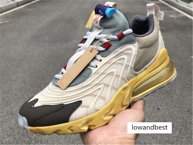Travis Scott ENG Cactus Parkur Jack Denizyıldızı Koyu Hazel Erkekler Kadınlar Spor Sneaker ile Kutusu Koşu Ayakkabıları Tepki x