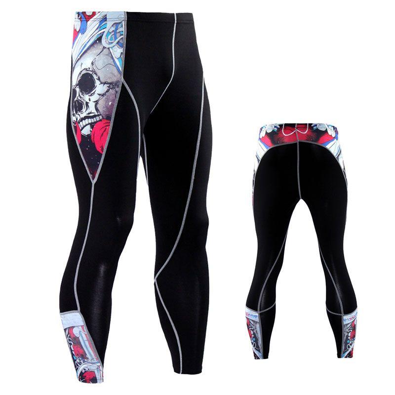 Мужские брюки мужские сжатия Jogger Fitness Expercise BodyBuilding колготки длинные брюки